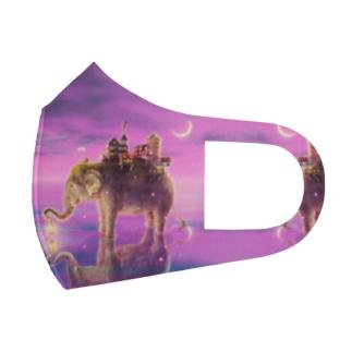 旅する象ピンクバージョン  Full Graphic Mask