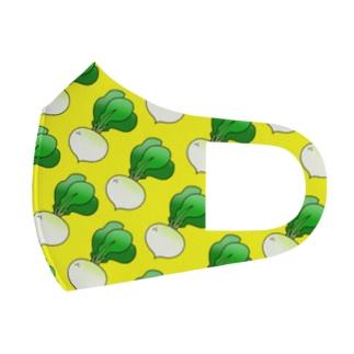 カブがいっぱいマスク(黄色) Full Graphic Mask