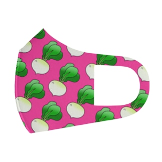 カブがいっぱいマスク(ピンク) Full Graphic Mask