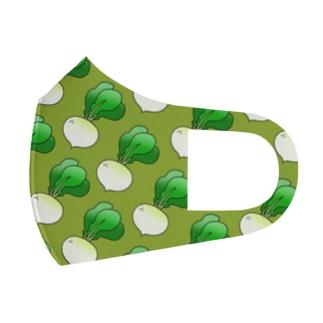 カブがいっぱいマスク(グリーン) Full Graphic Mask