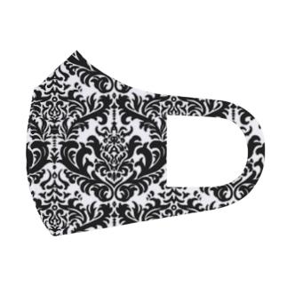 ダマスク柄ブラック Full Graphic Mask