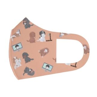 キャバリア CKCS感染症対策柄フルグラマスク アプリコット Full Graphic Mask