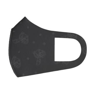 マスク じゃぱんわぷー 黒 Full Graphic Mask