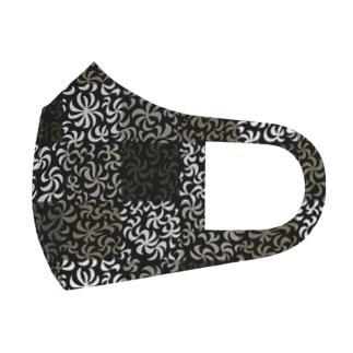 謎パターン(茶系) Full Graphic Mask