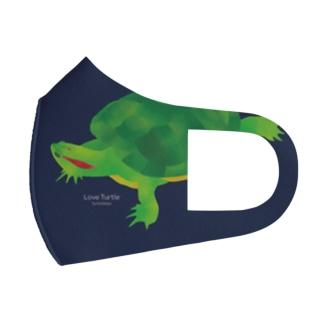 Love Turtle BIG TypeB ネイビー Full Graphic Mask