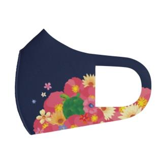 Love Turtle Flower  Full Graphic Mask
