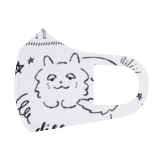 チェシャ猫のことば Full Graphic Mask