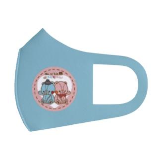 リムとラムのマスク(青) Full Graphic Mask