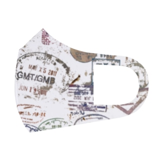 travel stamps.2 Full Graphic Mask