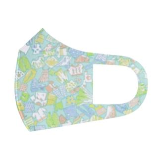 夏バテパターン Full Graphic Mask