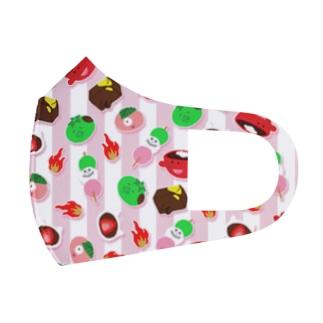 和菓子妖怪❤️ストライプ Full Graphic Mask