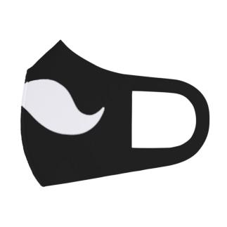ヒゲ(黒地) Full Graphic Mask