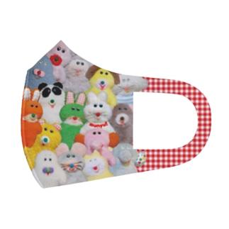 ぎゅうぎゅうプクーズ(ギンガム) Full Graphic Mask