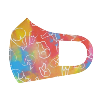 踊るおしり(カラフル) Full Graphic Mask