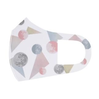 月とトライアングル Full Graphic Mask