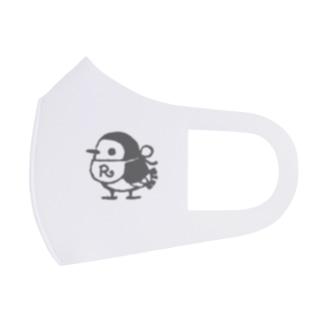 リルフィ モノクロ 白 Full Graphic Mask