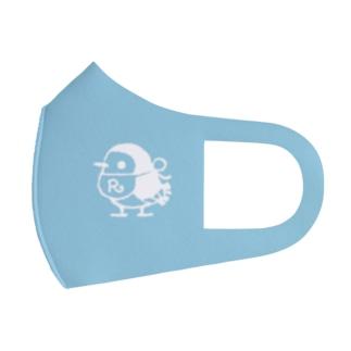 リルフィ モノクロ 水色 Full Graphic Mask