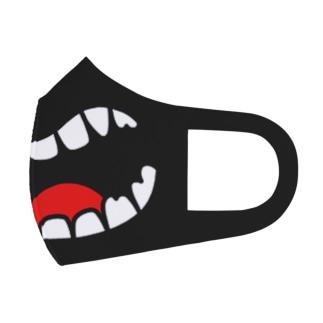 ビッグマウスなマスク(黒 Full Graphic Mask