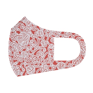 TANGLED-red Full Graphic Mask