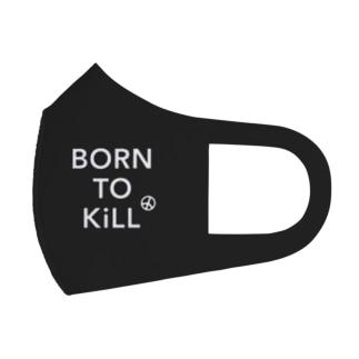 BORN TO KiLL(生来必殺)とピースマーク Full Graphic Mask