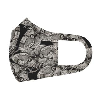 イボタガ Full Graphic Mask
