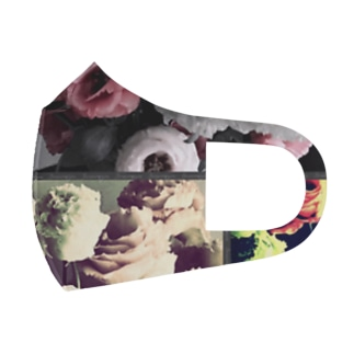 大人可愛いシックな花柄 Full Graphic Mask