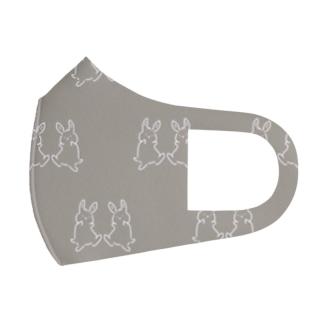 踊るうさぎ【総柄ver.】 Full Graphic Mask