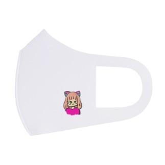 猫女の子 Full Graphic Mask