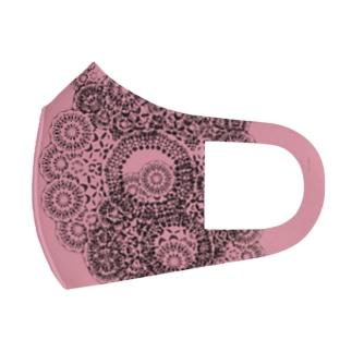 フラワーレースA(ピンク) Full Graphic Mask