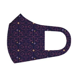 アイヌ紋様 Full Graphic Mask