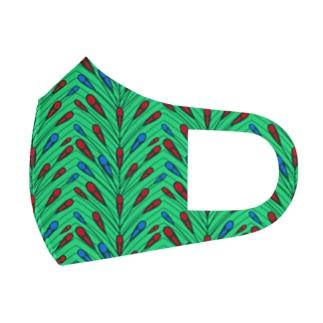 キミの奥まで飛んで行け! GREEN Full Graphic Mask