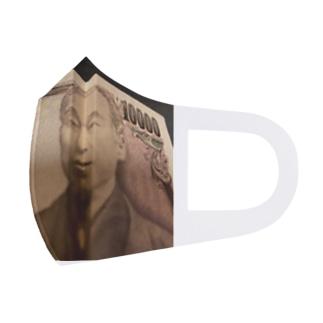 への字の諭吉 Full Graphic Mask