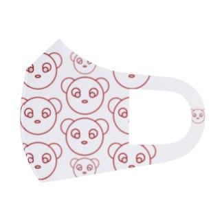Bear's family(Red) Full Graphic Mask