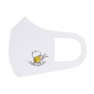 ビールマスク2 ホワイト Full Graphic Mask