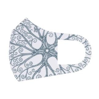テヅルモヅルlightcolor Full Graphic Mask