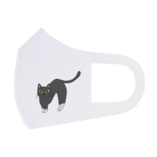 伸び猫(靴下にゃんこ) Full Graphic Mask