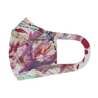 わと画伯の抽象画 Full Graphic Mask