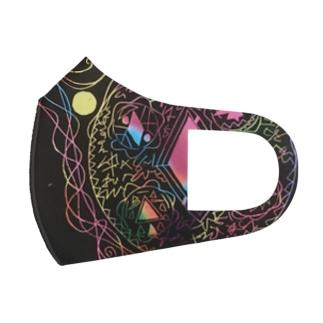 15次元アート「多次元の輪」 Full Graphic Mask