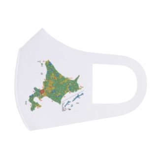 北海道179市町村地図 Full Graphic Mask