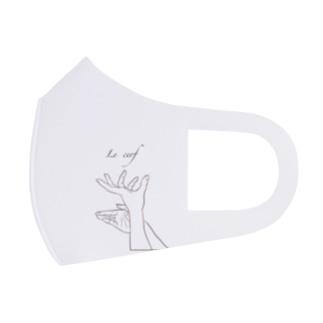 Jackalope  series  【雄鹿】 手影絵 Full Graphic Mask