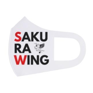 SAKURA WING 赤&黒文字 Full Graphic Mask