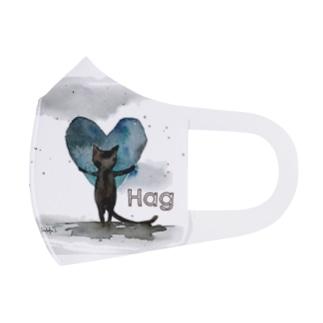 Hug cat Full Graphic Mask
