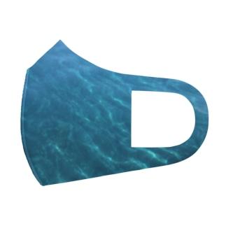 綺麗な水色 Full Graphic Mask