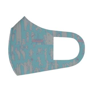 初期のぽたお(痩せ期)マスク Full Graphic Mask