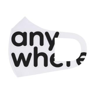 white Full Graphic Mask