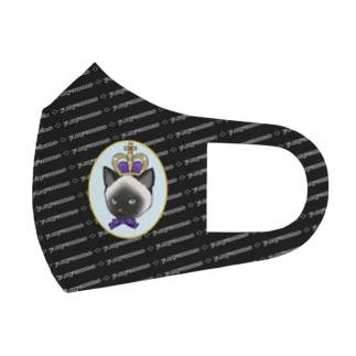 ロゴパレード シャム猫マスク ブラック Full Graphic Mask