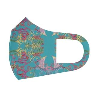 翠のトリトリ Full Graphic Mask