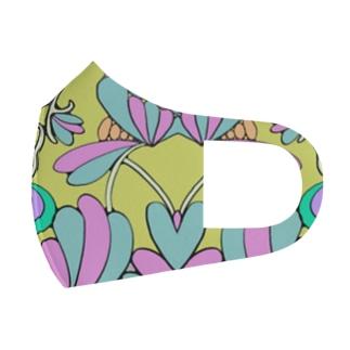黄色のプチプチ Full Graphic Mask