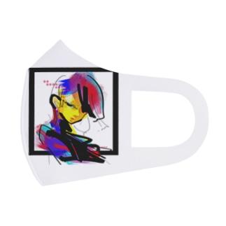 迷う人 Full Graphic Mask