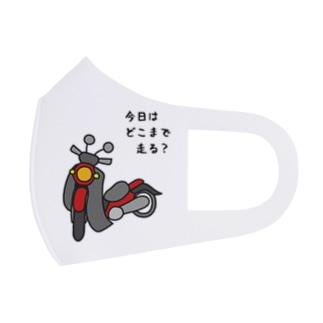 マスク(クロス・赤) Full Graphic Mask